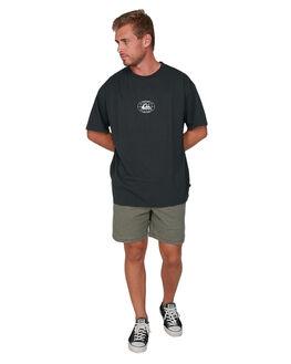 BLACK MENS CLOTHING QUIKSILVER TEES - EQYZT05810-KVJ0