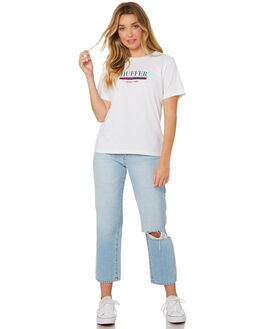 WHITE WOMENS CLOTHING HUFFER TEES - WTE84S42212WHI