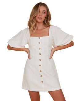WHITE WOMENS CLOTHING BILLABONG DRESSES - BB-6507693M-WHT