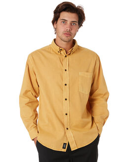 SUNLIGHT YELLOW OUTLET MENS THRILLS SHIRTS - TS9-201KSNYEL