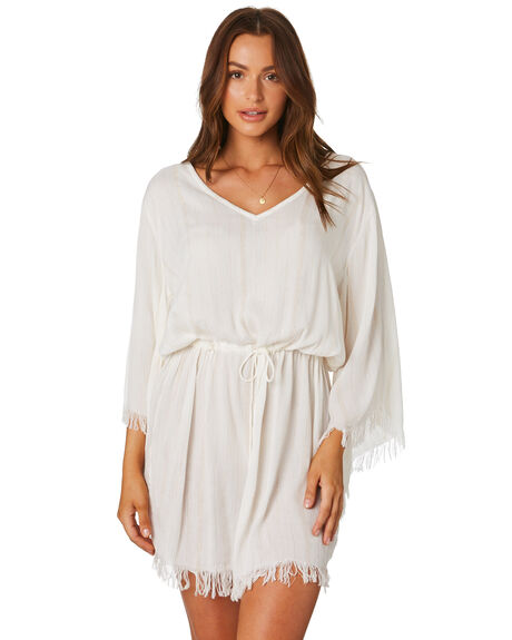 WHITE OUTLET WOMENS TIGERLILY DRESSES - T392471WHT
