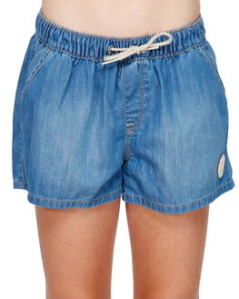 MEDIUM BLUE KIDS GIRLS ROXY SHORTS + SKIRTS - ERGDS03048-BGY0