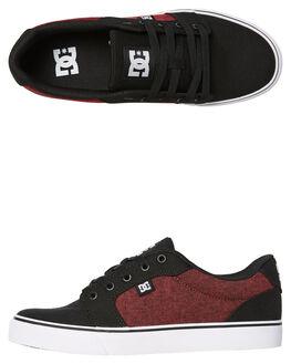 BLACK ATHLETIC RED MENS FOOTWEAR DC SHOES SNEAKERS - ADYS300036BAH