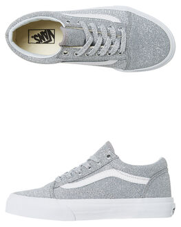 SILVER KIDS GIRLS VANS SNEAKERS - VNA38HBUAWSIL