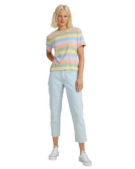 CHARDONNAY COLORWAY WOMENS CLOTHING QUIKSILVER TEES - EQWKT03102-YEP3