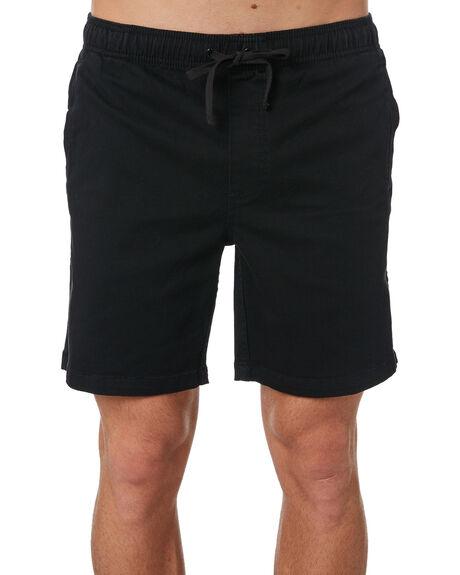 BLACK MENS CLOTHING AFENDS SHORTS - M183361BLK
