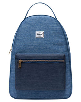 FADED DENIM INDIGO WOMENS ACCESSORIES HERSCHEL SUPPLY CO BAGS + BACKPACKS - 10503-02730-OSDNM