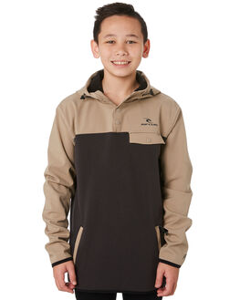 DARK KHAKI KIDS BOYS RIP CURL JUMPERS + JACKETS - KFEAN99660