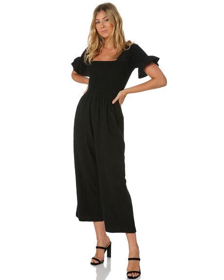 BLACK WOMENS CLOTHING RUE STIIC PLAYSUITS + OVERALLS - SA-20-26-1BLK