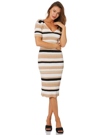 BOXY STRIPE BLACK WOMENS CLOTHING RUE STIIC DRESSES - SA-21-K-32-BSB-CBSTP