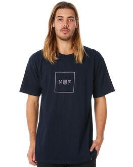 NAVY MENS CLOTHING HUF TEES - HUF-TS00323-NVY
