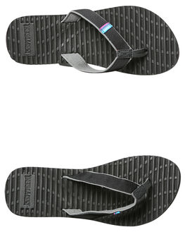 BLACK WOMENS FOOTWEAR FREEWATERS THONGS - WO-004BLK