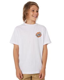 WHITE KIDS BOYS SANTA CRUZ TOPS - SC-YTD9321WHT