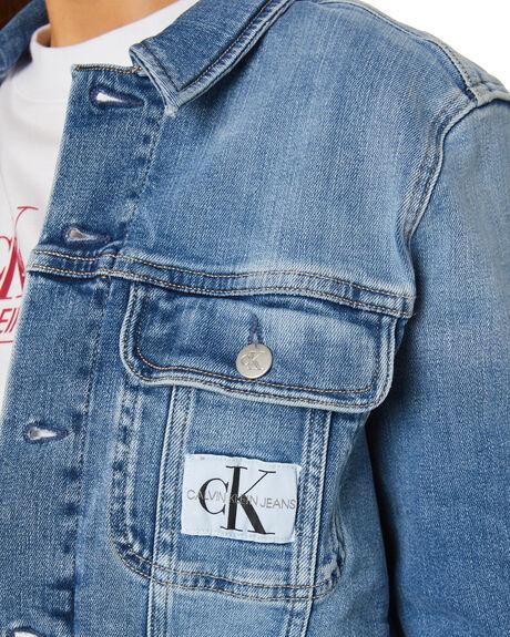 DENIM LIGHT WOMENS CLOTHING CALVIN KLEIN JACKETS - J20J2159281AA