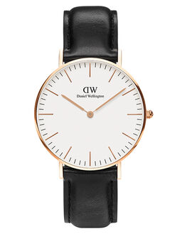 ROSE GOLD WHITE WOMENS ACCESSORIES DANIEL WELLINGTON WATCHES - DW00100036BLKWH