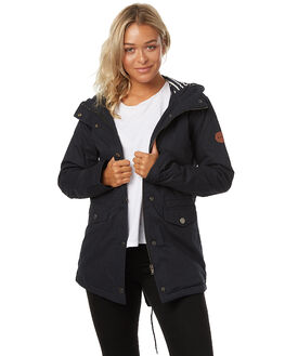 ANTHRACITE WOMENS CLOTHING ROXY JACKETS - ERJJK03172KVJ0