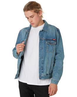 CALIFORNIA BLUE MENS CLOTHING WRANGLER JACKETS - 901613072