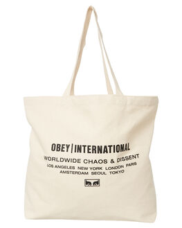 NATURAL MENS ACCESSORIES OBEY BAGS + BACKPACKS - 100552077NAT
