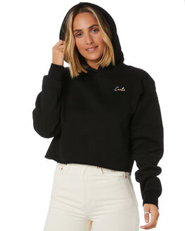 BLACK WOMENS CLOTHING COOLS CLUB JUMPERS - 405-CW6BLK