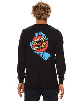 BLACK MENS CLOTHING SANTA CRUZ TEES - SC-MLB7511BLK