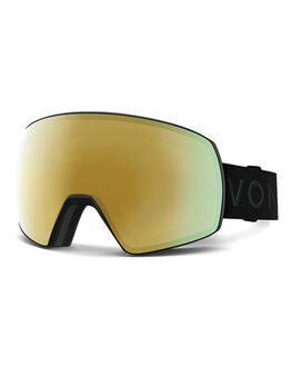 BLACK/GOLD CHROME BOARDSPORTS SNOW VONZIPPER GOGGLES - VZ-GMSSATBKD-BLK
