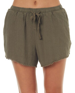 OLIVE WOMENS CLOTHING SWELL SHORTS - S8171233OLIVE