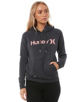 DARK GREY RUST PINK WOMENS CLOTHING HURLEY JUMPERS - AGFL170DHG6GM