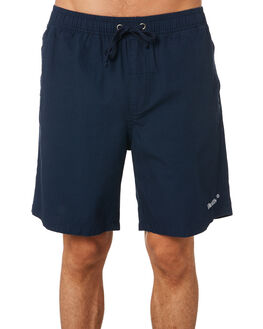 WASHED NAVY MENS CLOTHING THRILLS BOARDSHORTS - TH9-314EWNVY