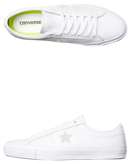 29f3faf98471 Converse One Star Leather Shoe - White White Black