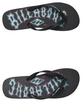 BLACK MENS FOOTWEAR BILLABONG THONGS - 9695946BLK