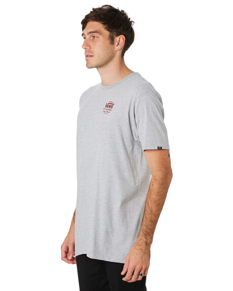 ATHLETIC HEATHER RED MENS CLOTHING VANS TEES - VNA3HZFTM7GRY