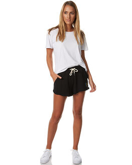 WASHED BLACK WOMENS CLOTHING ALL ABOUT EVE SHORTS - 6483055WBLK