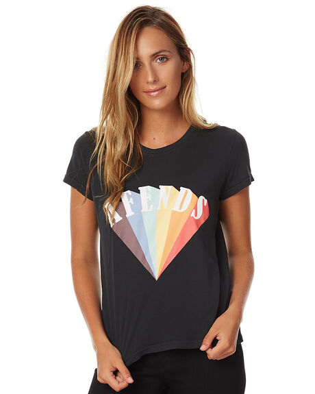 FADED BLACK WOMENS CLOTHING AFENDS TEES - 50-05-023FBLK
