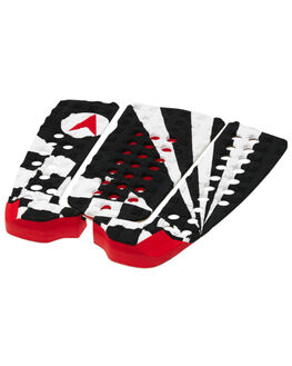 BLACK RED WHITE SURF HARDWARE ASTRODECK TAILPADS - 808BRW