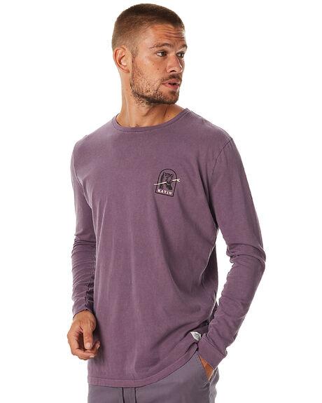 PURPLE MENS CLOTHING KATIN TEES - KNTOOF16PURP