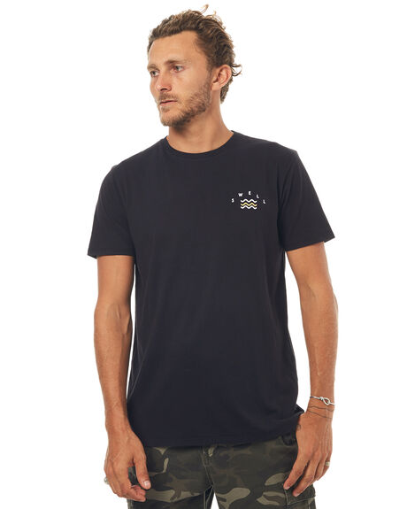 WASHED BLACK MENS CLOTHING SWELL TEES - S5171007WSHBK