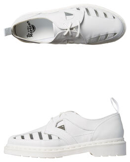 WHITE WOMENS FOOTWEAR DR. MARTENS FASHION SANDALS - SS21877100WHTW