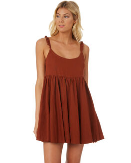 DESERT RED WOMENS CLOTHING SAINT HELENA DRESSES - SH18S1845DRED
