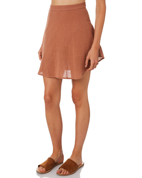 RUST WOMENS CLOTHING ZULU AND ZEPHYR SKIRTS - ZZ2283RUST