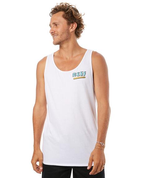WHITE MENS CLOTHING REEF SINGLETS - SIH701WHI