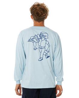 LIGHT BLUE MENS CLOTHING POLAR SKATE CO. TEES - RKTMANLSLBLU