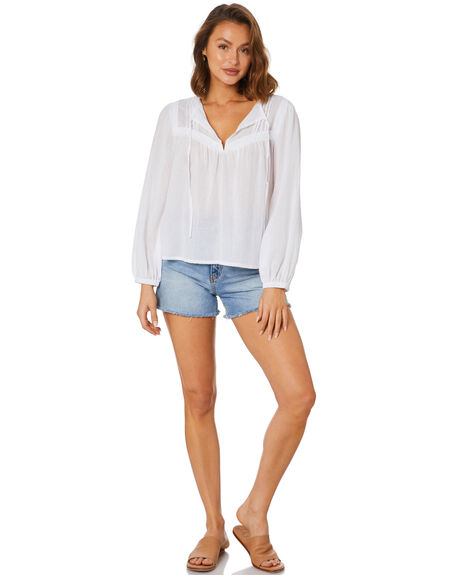 WHITE WOMENS CLOTHING RUSTY FASHION TOPS - SCL0364WHT