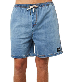 THRIFTED BLUE MENS CLOTHING RUSTY SHORTS - WKM0919THB