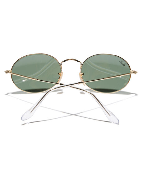 GOLD GREEN MENS ACCESSORIES RAY-BAN SUNGLASSES - 0RB3547GLDGR
