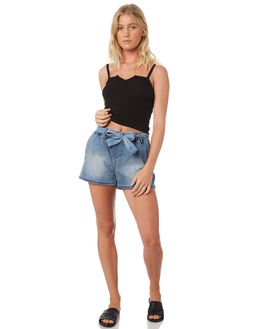 DARK INDIGO WOMENS CLOTHING BETTY BASICS SHORTS - BB808S18IND