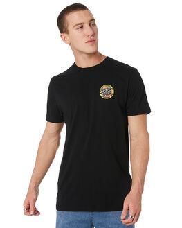 BLACK MENS CLOTHING SANTA CRUZ TEES - SC-MTD9344BLK