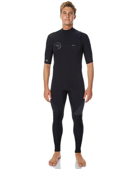 ebd991593161 Quiksilver 2X2 Highline Zipperless Short Sleeve Steamer - Black ...