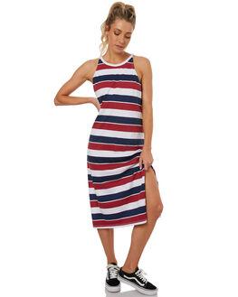 NAVY BLUE WOMENS CLOTHING RUSTY DRESSES - DRL0889NVB
