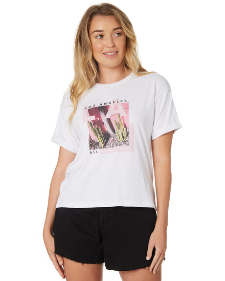 WHITE WOMENS CLOTHING ALL ABOUT EVE TEES - 6426135WHI