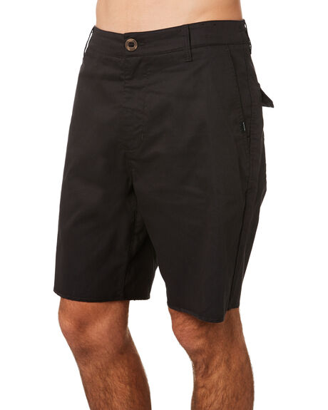 WASHED BLACK MENS CLOTHING RIP CURL SHORTS - CWAAT98264